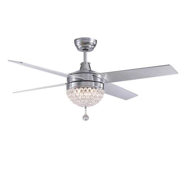 4 Blades Crystal Ceiling Fan with Light