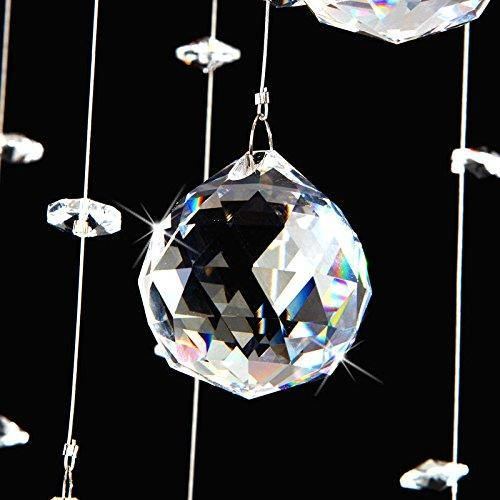 7PM Rain Drop Clear K9 Crystal Ceiling Light Lamp Modern contemporary Chandelier Lighting Fixture - 7PM LIGHTING