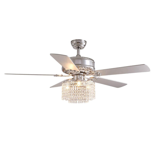 5  Blades  Ceiling  Fan  with  Globe  Crystal  Shade