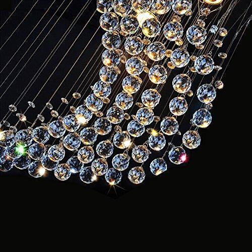 7PM Moon Shape Rain Drop Clear LED K9 Crystal Chandelier - 7PM LIGHTING