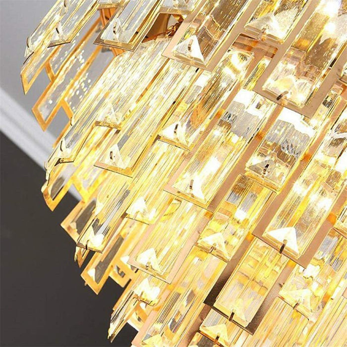 Crystal Fandelier with Dimmable Lights and Invisible Blades Gold - 7PM LIGHTING