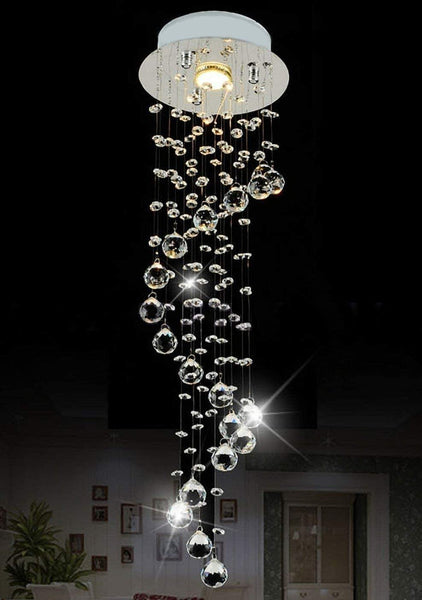 7PM Spiral Crystal Ceiling Light