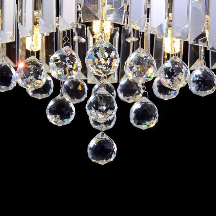 7PM Square Crystal Hallway Light-Crystal Ball Detials