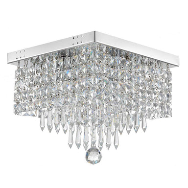 Square Mini Hallway Crystal Chandelier - 7PM LIGHTING