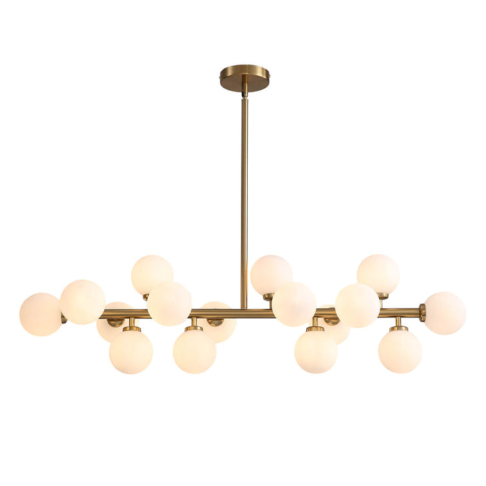 Ball Linear Chandelier Positive Dispaly Light On