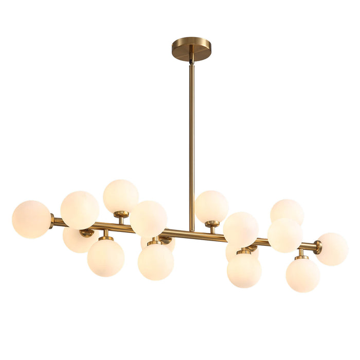 Ball Linear Chandelier Side Dispaly Light On