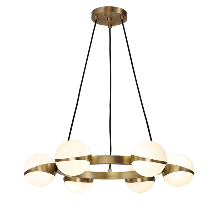 Brass Round Hanging Light
