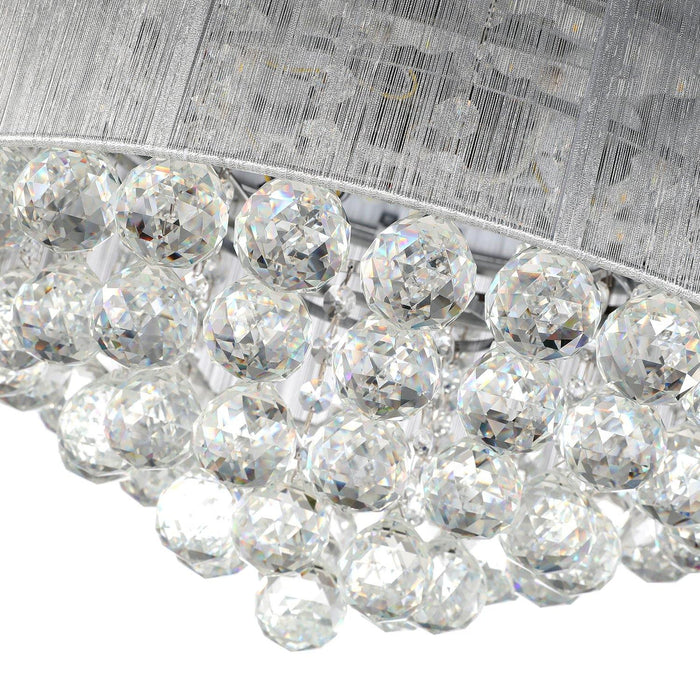 "Chandelier Fan with Dimmable Lights Crystal Fandelier, 36"" Chrome - Details"