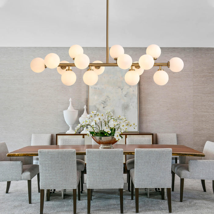 Contemporary Ball Linear Chandelier For Dining Room