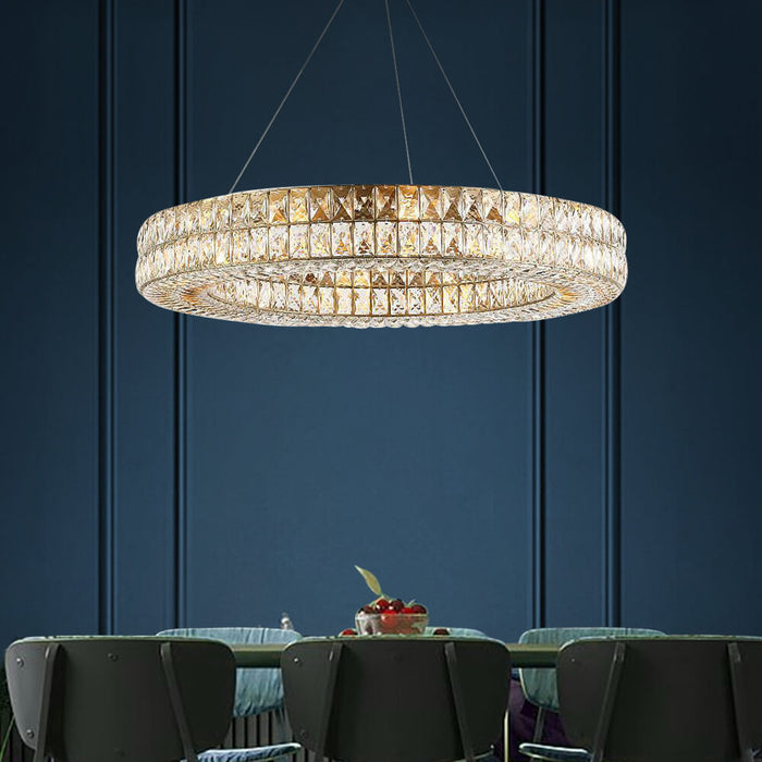 Contemporary Crystal Ring Chandelier