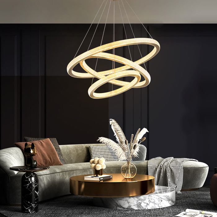 Contemporary DIY Ring Chandelier For Living Room
