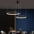Contemporary LED Ring Chandelier