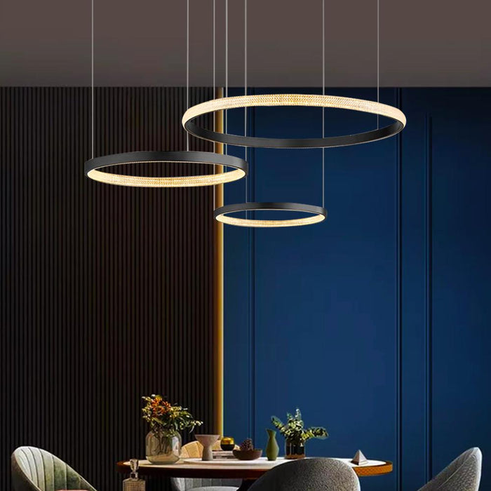 Contemporary LED Ring Pendant Light