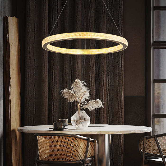 Contemporary Ring Chandelier For Dining Room