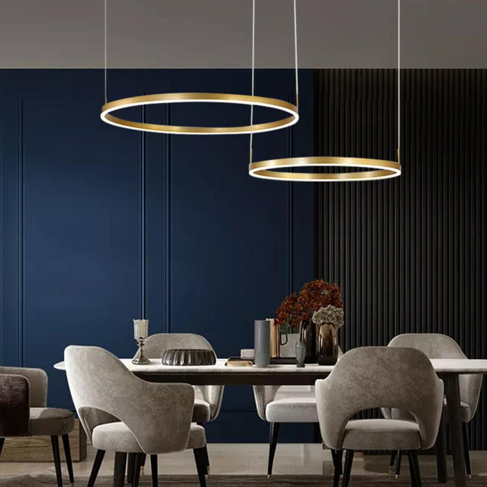 Contemporary Ring Chandelier with LEDs