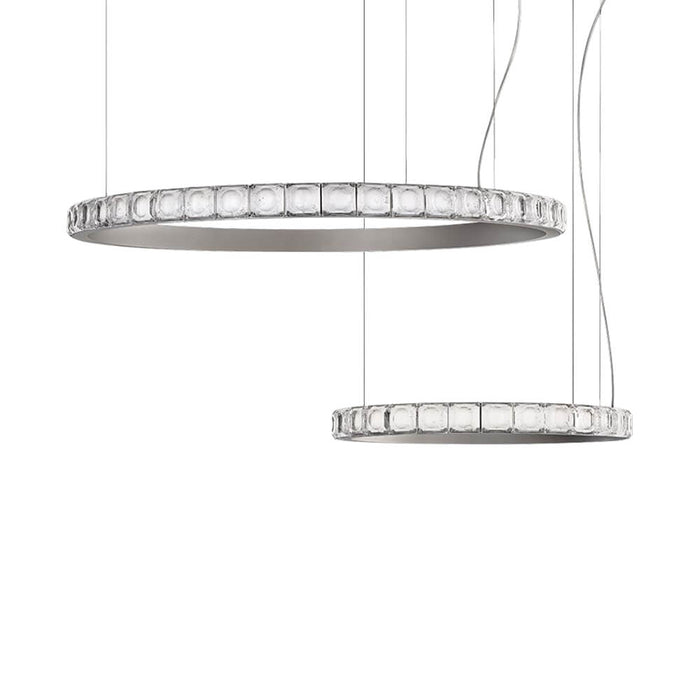 Crystal Circular Pendant Light