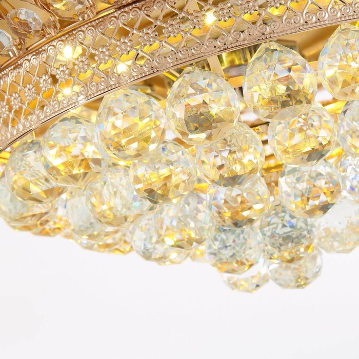 Crystal Detail For Gold Ceiling Fan