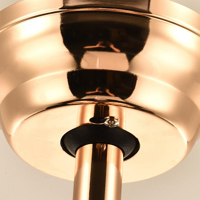 "Crystal Fan with Dimmable Lights Invisible Blades, 42"" Gold - Details"
