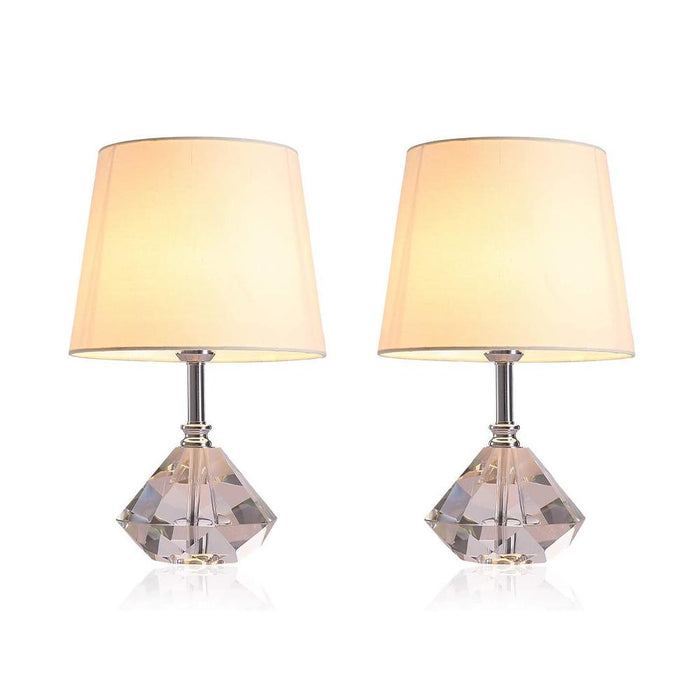 Crystal Nightstand Table Lamp 2 Pcs 7PM HOME