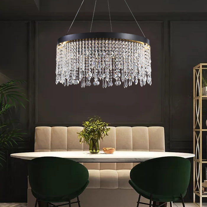 Crystal Raindrop Ring Chandelier