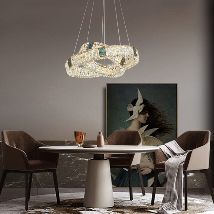 Crystal Ring LED Chandelier For Dining Room