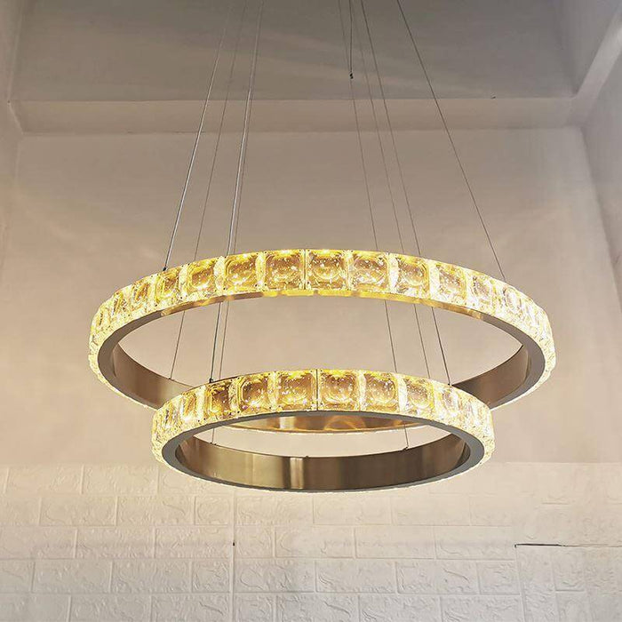 Crystal Ring Pendant Light