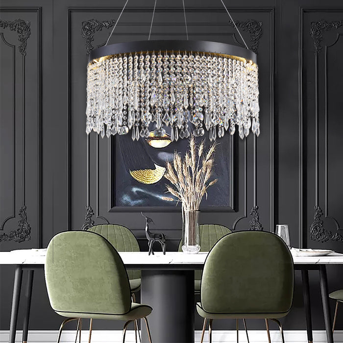 Crystal Round Chandelier For Dining Room