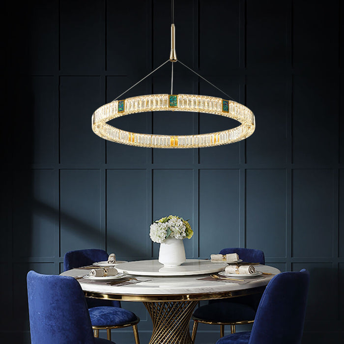 Crystal Round LED Suspension Light