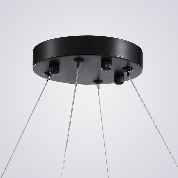 Crystal Round Suspension Light Canopy Detail