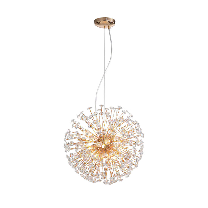 Dandelion Crystal Spherical Chandelier White Background
