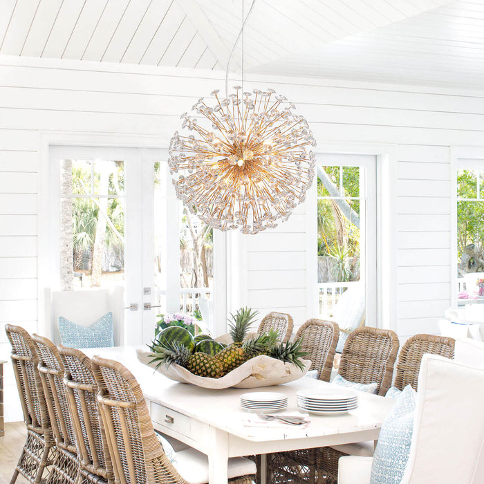 Dandelion Crystal Spherical Pendant Light
