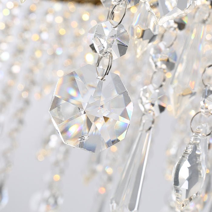 Details For Circular Crystal Raindrop Chandelier