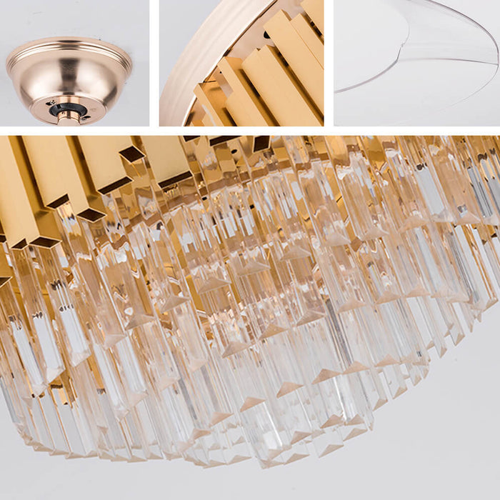 Details For Crystal Ceiling Fan With Light