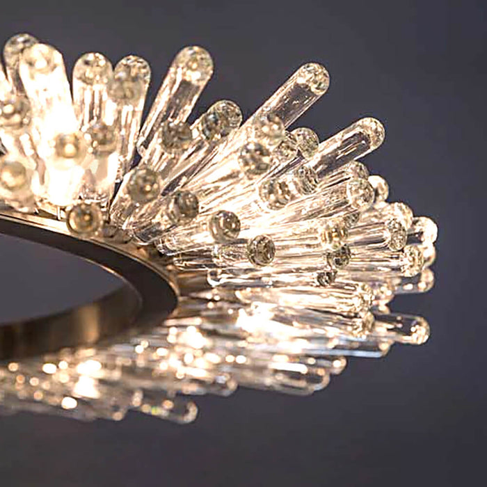 Details For Crystal Round Chandelier Lighting