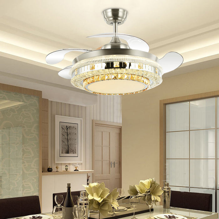 Dining Room Retractable Ceiling Fan