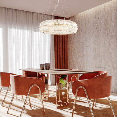 Dining Room Round Crystal Pendant Light