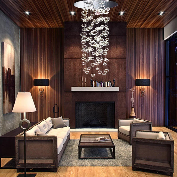 Due Bubble Glass Drop Chandelier - Living Room