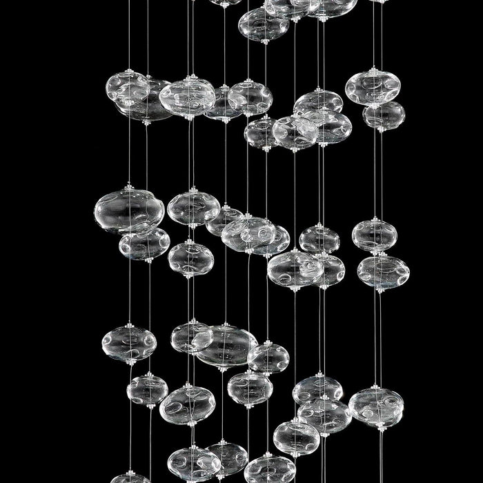 Due Bubble Glass Drop Chandelier - Details