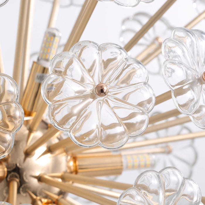 Floral Ball Crystal Chandelier Detail-1