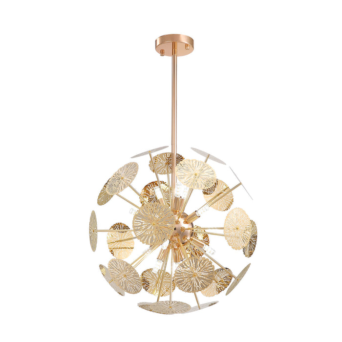 Globe Gold Pendant Light White Background Light Off