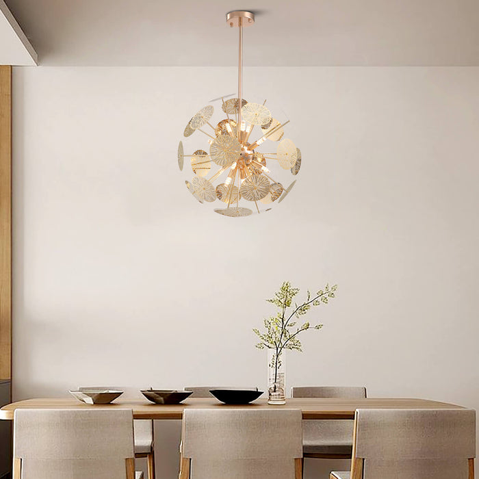 Globe Shaped Chandelier For Dining Room