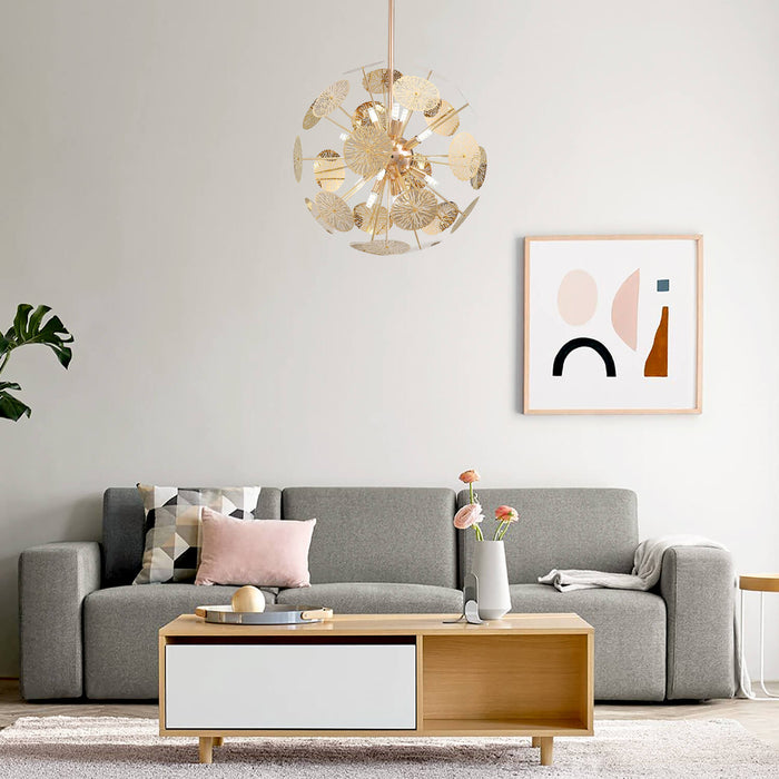 Globe Shaped Chandelier For Living Room