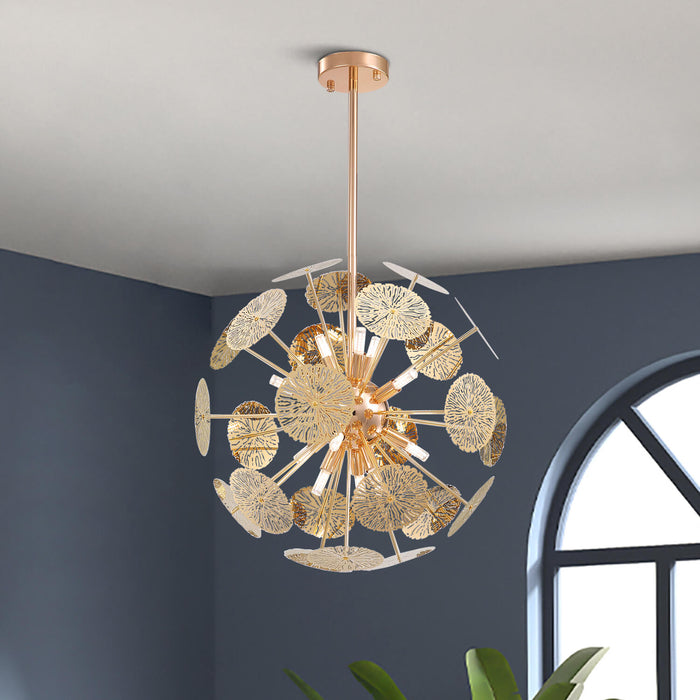 Gold Ball Shaped Hanging Light