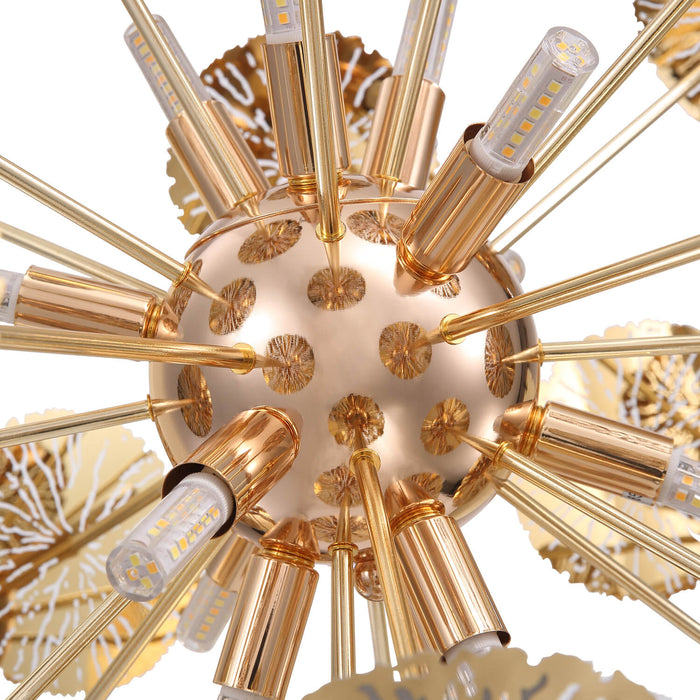 Gold Ball Shaped Pendant Light Detail-2