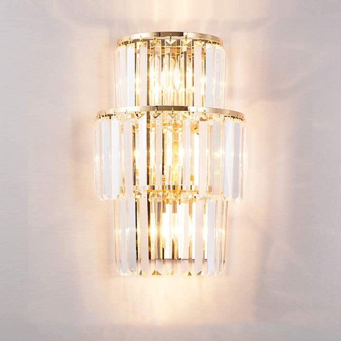 Gold Crystal Wall Sconce Light On 7PM LIGHTING