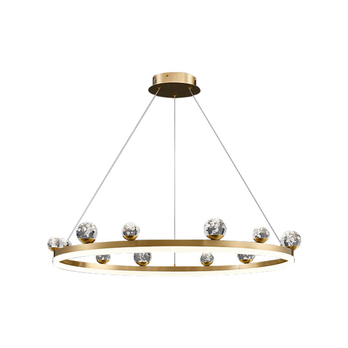 Gold Ring LED Pendant Light Single Ring