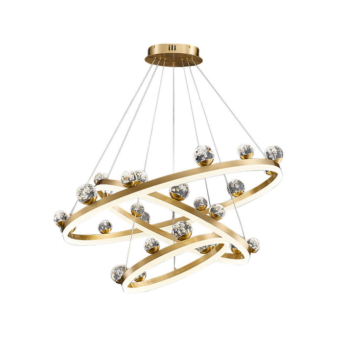Gold Ring LED Suspension Light 3 Rings