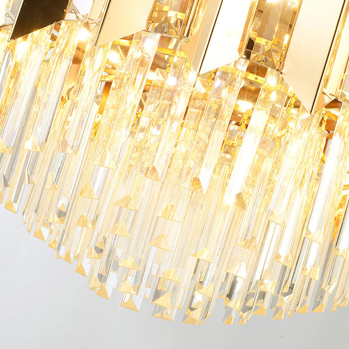 LED Chandelier Fan Crystal Details
