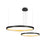 LED Gold Ring Pendant Light