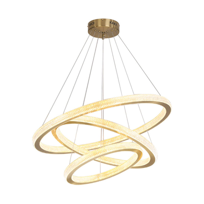 Modern Rings Hanging Light Gold